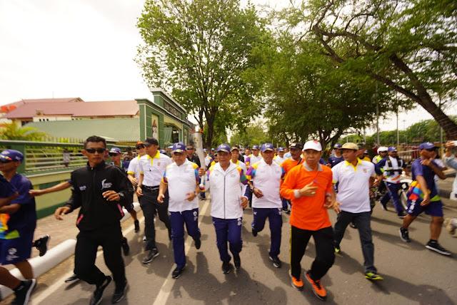 Masyarakat Kalsel Sambut Antusias Obor Asian Games 2018