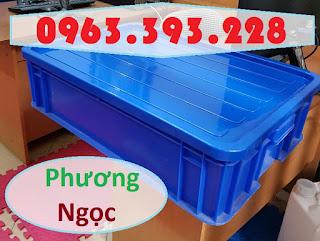 Sóng nhựa bít HS007, thùng nhựa đặc công nghiệp, thùng nhựa đặc có nắp, thùng nh 118