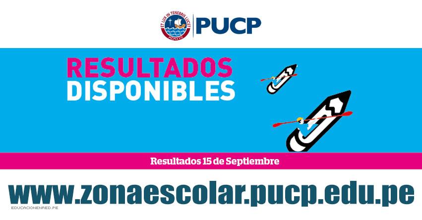 Resultados PUCP 2019 (Domingo 15 Septiembre) Lista de Aprobados - Zona Escolar - Examen de Admisión Modalidad Colegio Preferente - Pontificia Universidad Católica del Perú - www.pucp.edu.pe