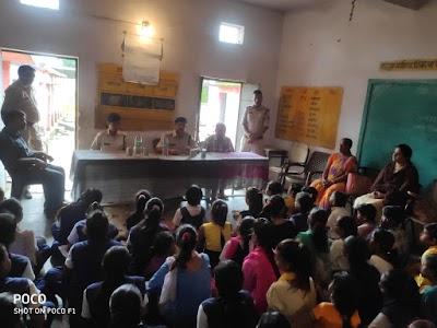 शासकीय कन्या माध्यमिक विद्यालय में पुलिस ने चलाया जनजागरण अभियान | Shivpuri News