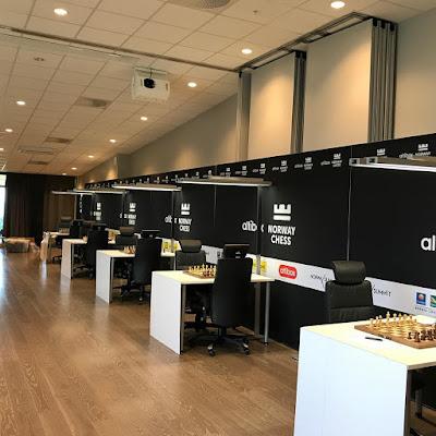 Sala de juego del Norway Chess 2017