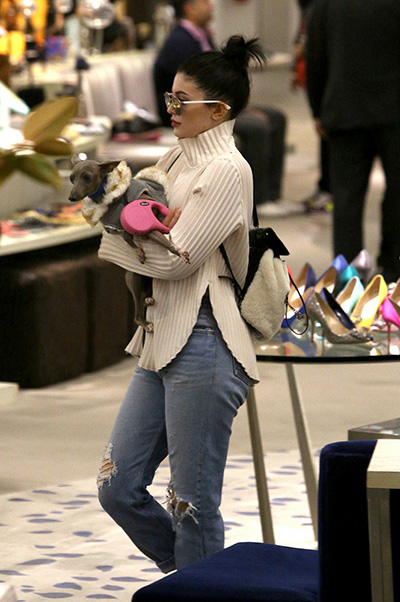 Kylie Jenner without make up on shopping 002