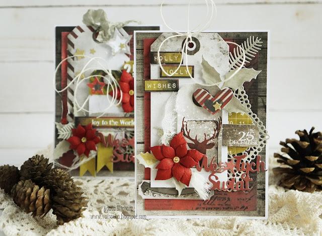 Klasyczne kartki świąteczne/DT CraftPassion