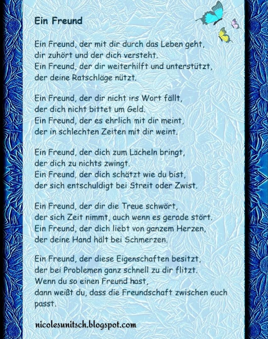 Gedichte Von Nicole Sunitsch Autorin Ein Freund Gedicht Von