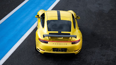 Porsche 911 Wallpaper, Yellow Sports Car, Track Free HD
