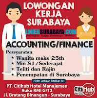 Loker Surabaya di PT. Citihub Hotel Manajemen Januari 2020