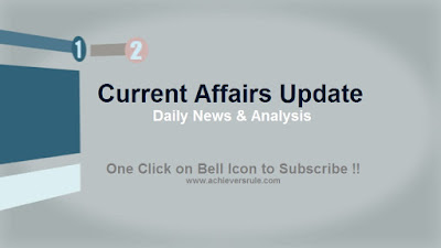 Current Affairs Updates - 9th November 2017