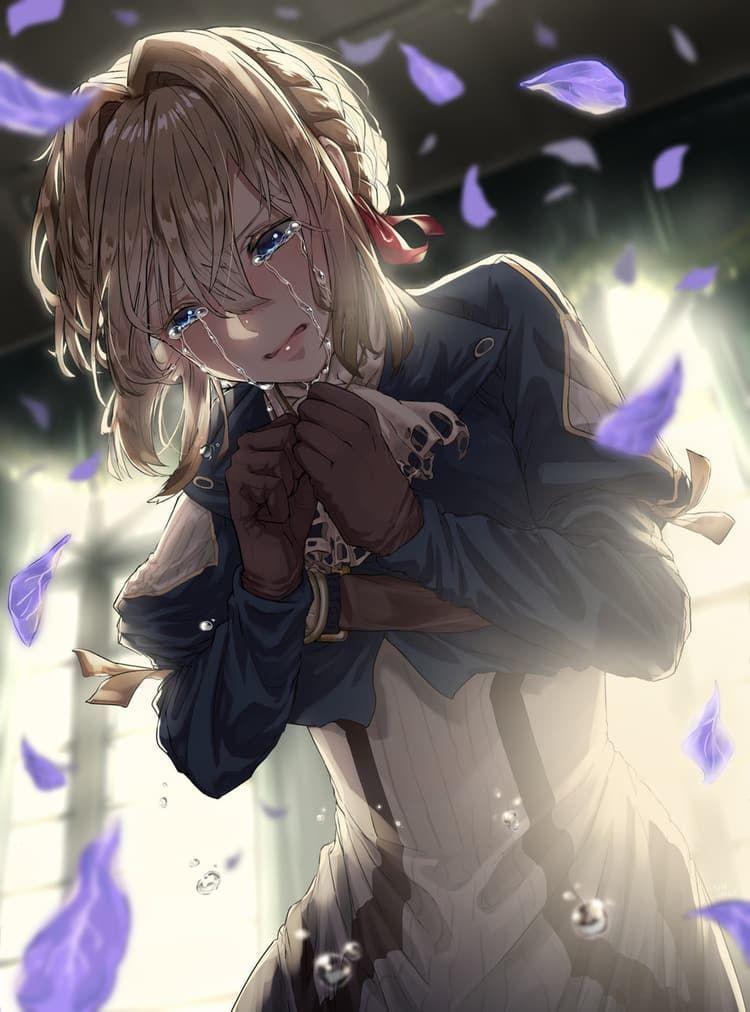 anime girl crying wallpaper