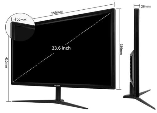 Thinlerain HD240-165HZ 1080p 24 Inch Gaming Monitor
