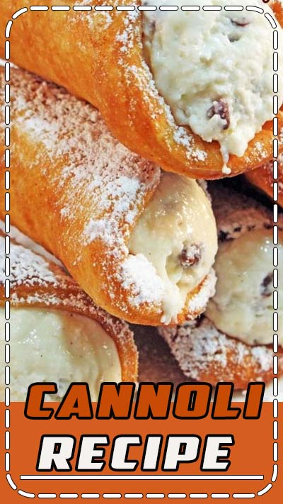 Best Cannoli Recipe! Not just for cannoli shells but CANNOLI CAKES TOO!