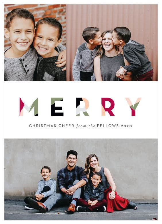 Marbled Merry Holiday Cards | Basic Invite