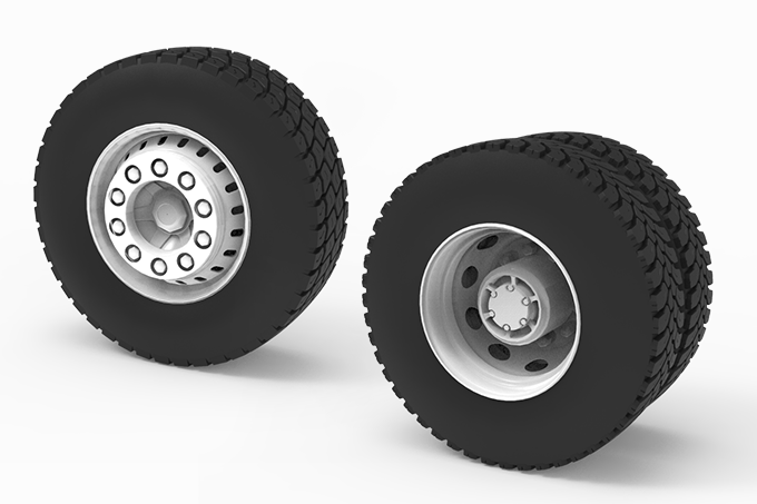 WHEELS TRUCK - BACK AND FRONT