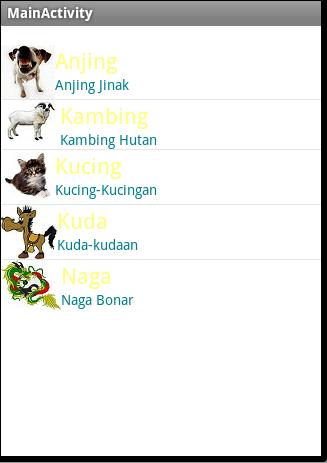 Membuat Listview dengan Gambar | Tutorial Android