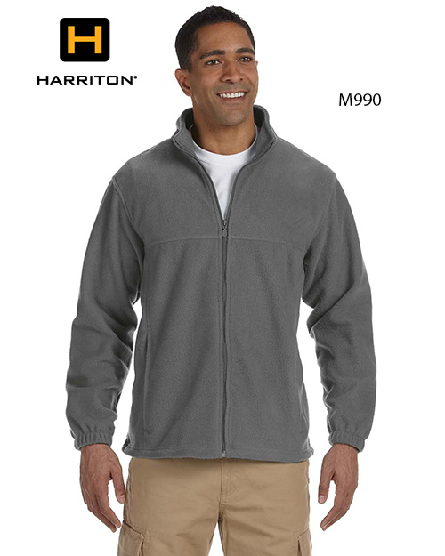 Harriton M990 Men Full Zip Fleece Jacket