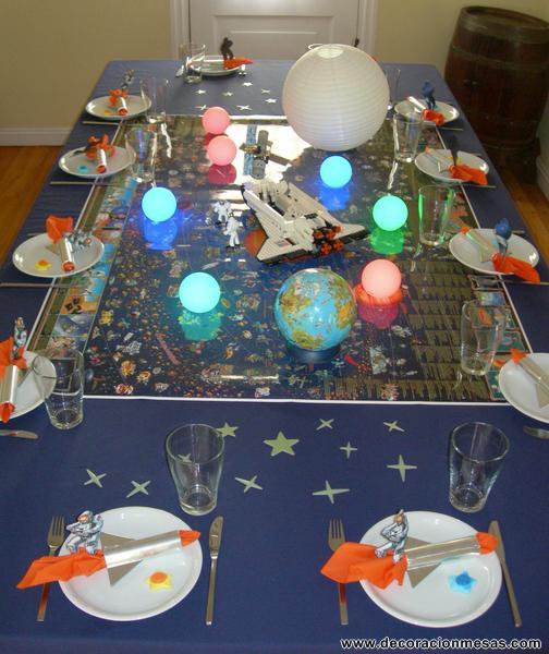 Decoracion de mesas Mesa Cumpleaos de astronautas
