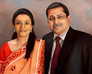 couple-painting-in-suit-and-saree