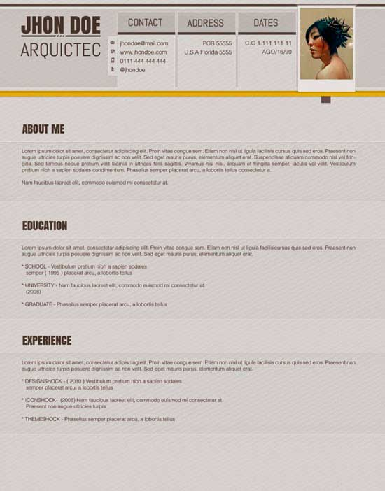 Free Creative Resume Template 23