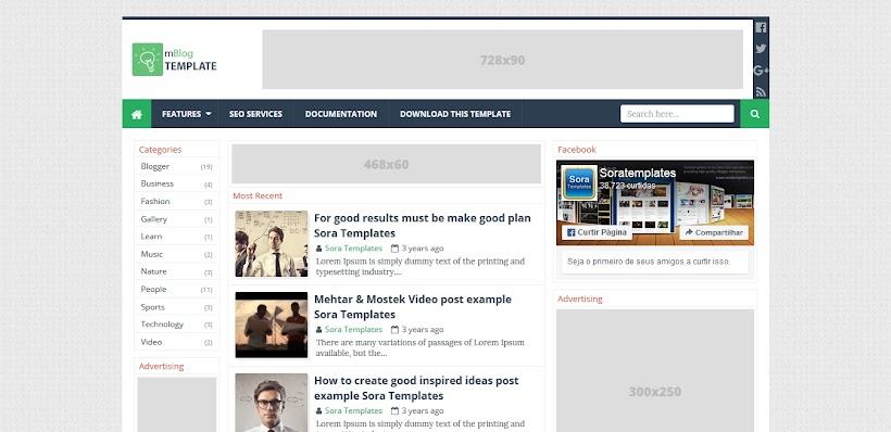 mBlog Free Blogger Template