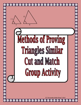 Similar Right Triangles Activity   mrseteachesmath.blogspot.com