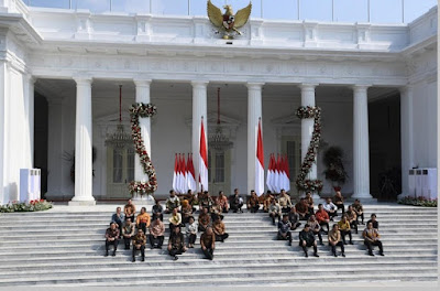 Susunan menteri - menteri Kabinet Indonesia Maju periode 2019-2024 Jokowi - Ma'ruf Amin