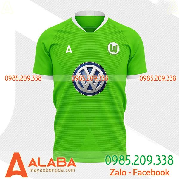 Áo bóng đá tự thiết kế màu xanh chuối đẹp