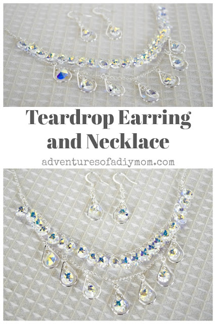 teardrop necklace and earrings diy