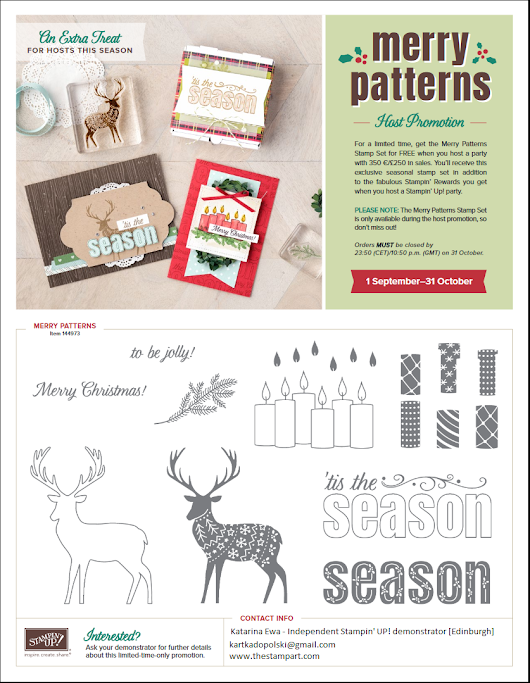Merry patterns host promotion reminder
