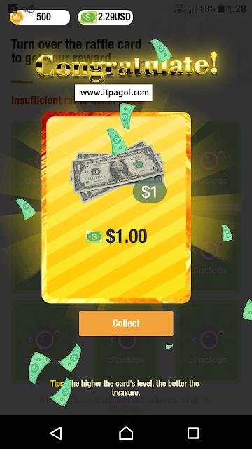 Collect $1 dollar rewards