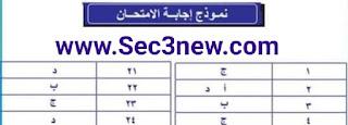 إختبار للغة العربية للصف الثالث الثانوي نظام جديد بالإجابات الصحيحة