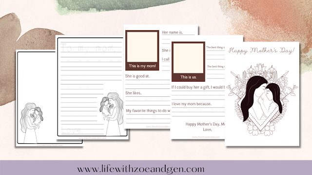 Free Mother's day activities printable for preschool by Life with ZG. l Gen Roraldo