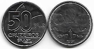 50 Cruzeiros, 1991