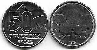 Moeda de 50 Cruzeiros, 1991