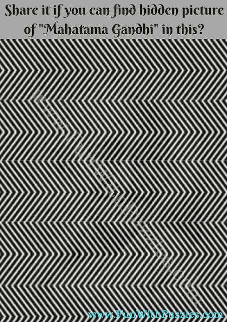 Picture Puzzle of hidden Gandhi Face