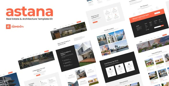 Best Real Estate and Architecture Elementor Template Kit