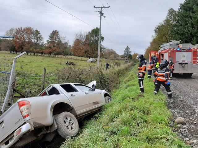 2 lesionados deja accidente en el sector rural de Carimallin