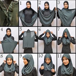 model jilbab pashmina untuk wajah bulat