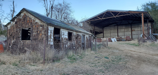 Chicken hut and equipment storage, Hunt Ranch, Wildwood Canyon State Park
