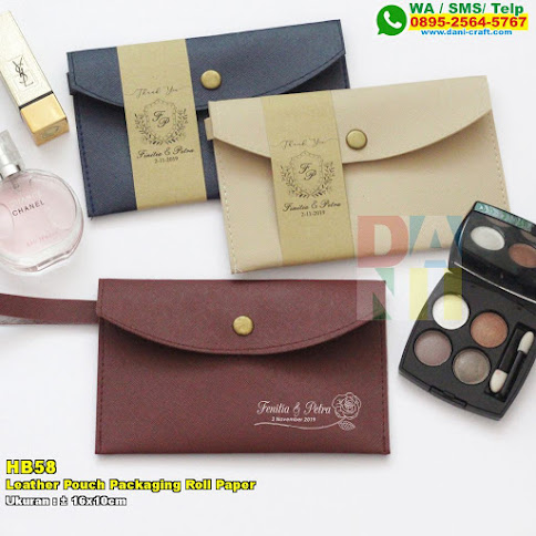 Leather Pouch Packaging Roll Paper