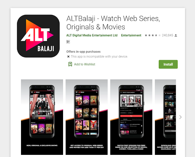 ALTBalaji App - Watch Web Series, Originals & Movies Unlimited
