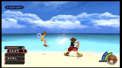 A screenshot of Kingdom Hearts Expert gameplay