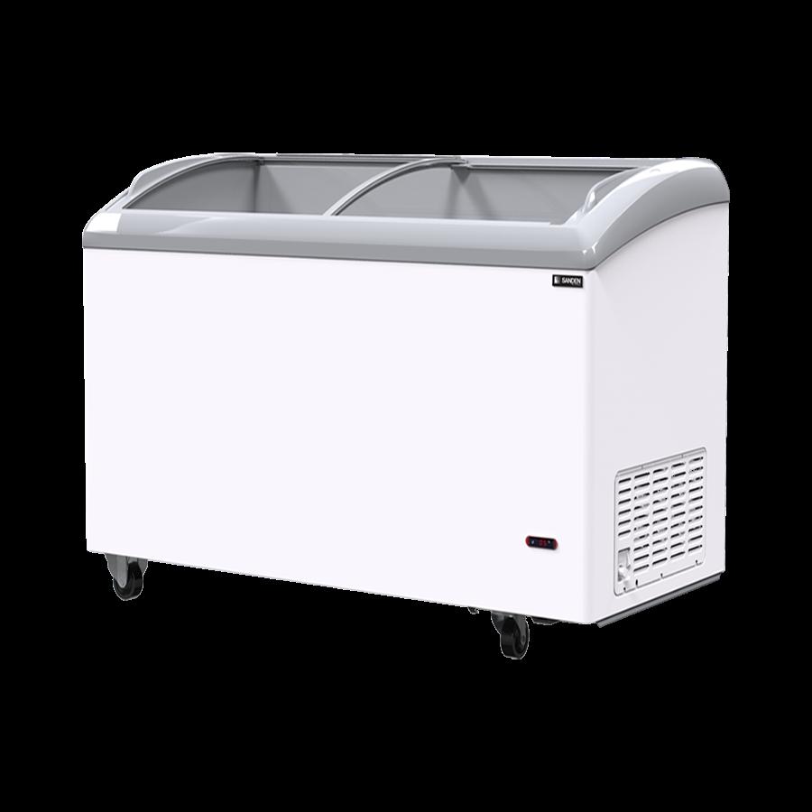 Tủ đông kính cong Sanden intercool SNC-0435 dung tích 800 Lít