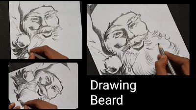 How to draw Santa Claus, step by step tutorial for to draw Santa Claus, easy drawing of Santa Claus, online drawing,