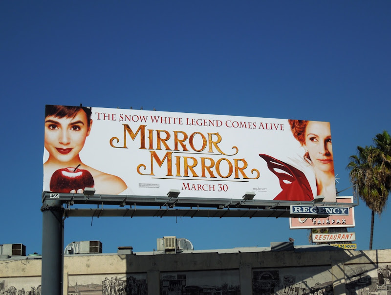 Mirror Mirror movie billboard