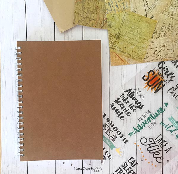 Easy to make Travel Notebook with just a few craft supplies