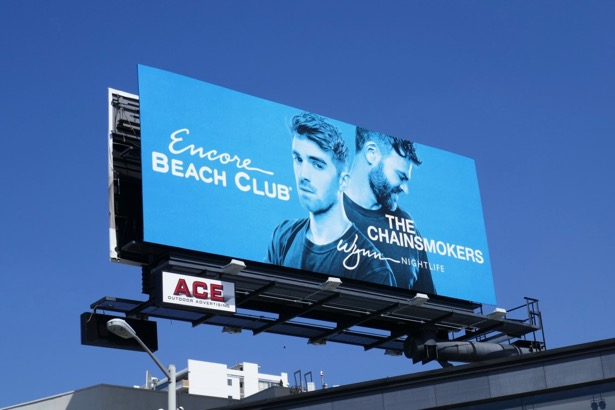 Chainsmokers Encore Beach Club Vegas billboard