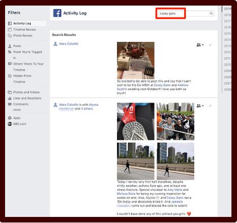 Facebook Log Activity