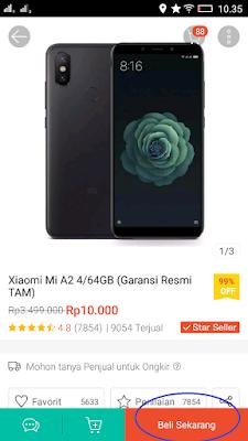 Xiaomi A2 hanya 10ribu saja!