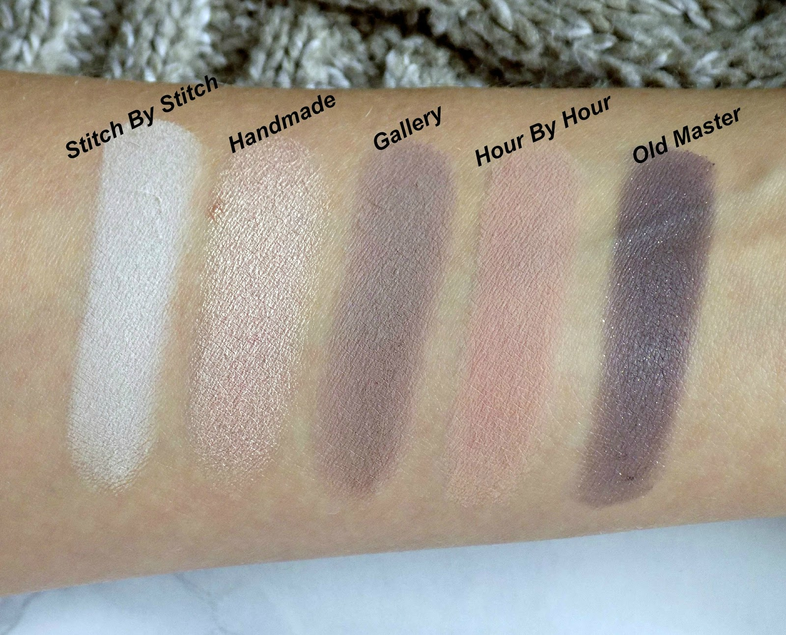 Zoeva 'En Taupe' palette - swatches