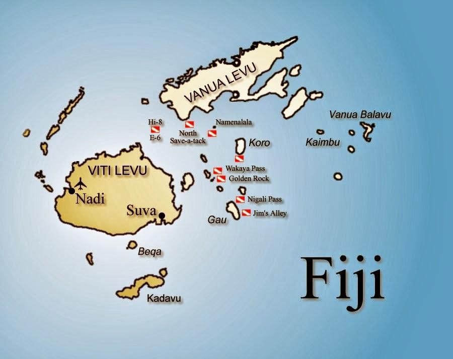 Peta Negara Fiji