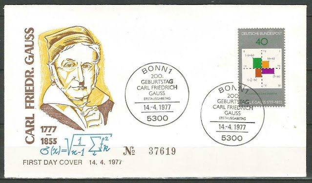 Germany 1977 FDC Mathematician Carl Friedrich Gauss Plane of Complex Numbers